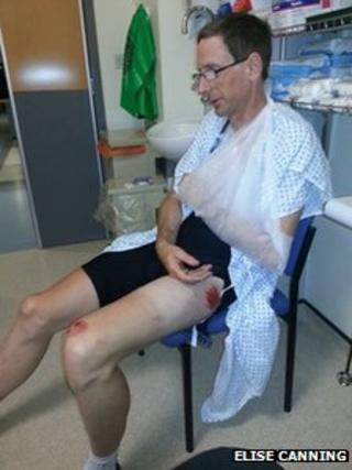 Mark Canning in hospital