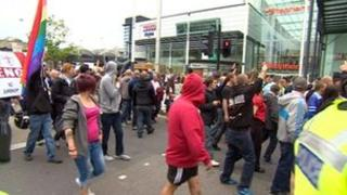 EDL marchers in Hull