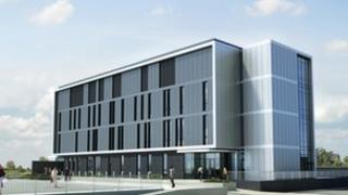 Artist's impression of the new laboratory planned for Carrickfergus
