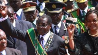 Robert Mugabe and his wife Grace - 12 August 2013