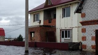 Flooded house in Vladimirovka