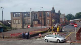 Fire-ravaged former St Columba's Primary School