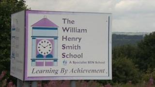 Sign reading The William Henry Smith School