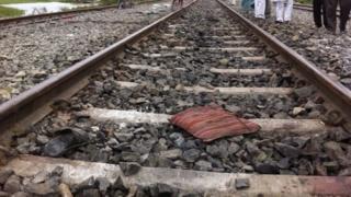 The train track in Dhamara Ghat