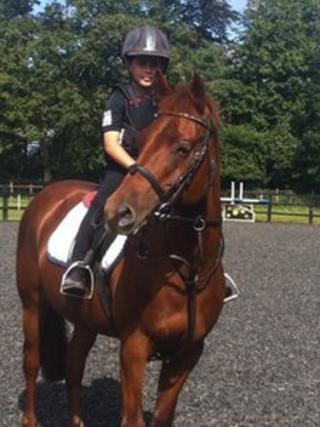 Joshua Kindell on his pony Tango