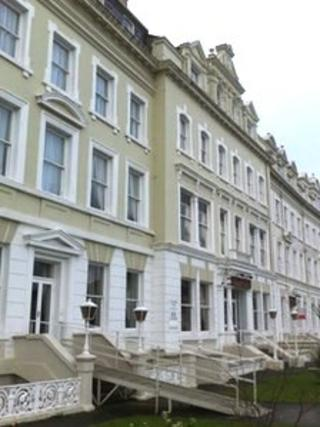 Hotels along the seafront in Llandudno