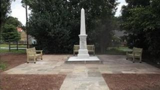 The war memorial at Fairburn