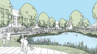 Artist's impression of Lincolnshire Lakes scheme