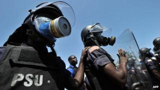 Police in Liberia (7 November 2011)