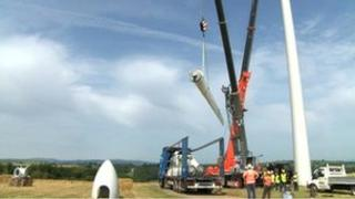 South Brent wind turbine