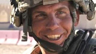 File photo from August 2011 of Staff Sgt Robert Bales training at Fort Irwin, California