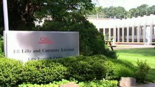 Sign outside Eli Lilly office