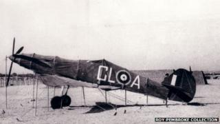 A dummy Hawker Hurricane