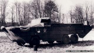 A dummy DUKW (amphibious truck)