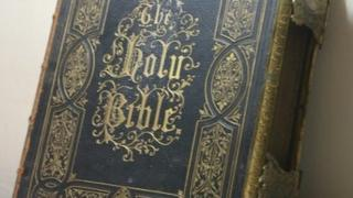Bible that was taken from church