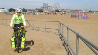 Paramedic on bike at Skegness
