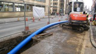 Scottish Water work being carried out in George Street, Glasgow