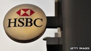 HSBC branch sign