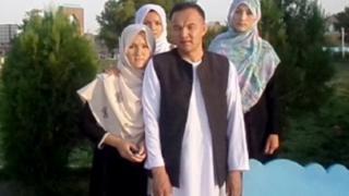 Habibullah Kazemi with his family