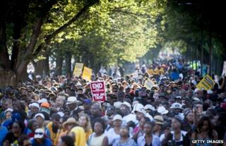 Marchers in Washington DC, 24 August