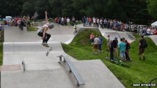 Skate park at Knighton, Powys