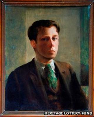 Rex Whistler self-portrait