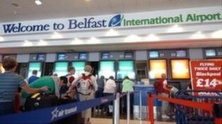 An incident happened last month at Belfast International Airport