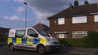 Police van in Cranmore Rise, Leeds