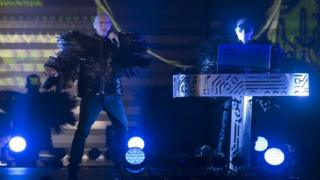 Neil Tennant and Chris Lowe of Pet Shop Boys perform on stage on June 23, 2013 in Tel Aviv, Israel