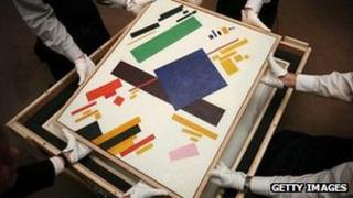 Suprematist Composition by Malevich - file pic