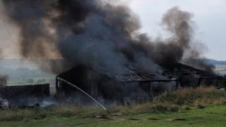 The barn fire at Tolpuddle