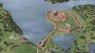 Kenilworth Castle aerial view