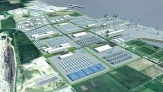 Computer-generated image of the planned energy park
