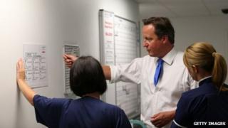 David Cameron at Salford Royal Hospital