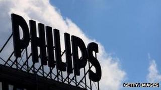 Philips sign on factory in Aachen