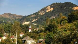 Rosia Montana village - file pic