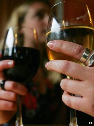 Women drinking