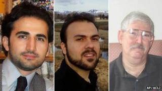 (l-r) Amir Hekmati, Saeed Abedini and Robert Levinson