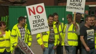 Hovis staff on picket line