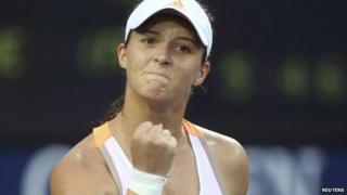 Laura Robson celebrating at the US Open