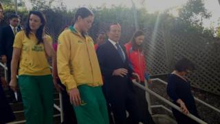 Tony Abbott, centre