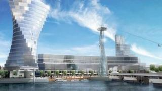 An artists impression of the Queen's Quay development