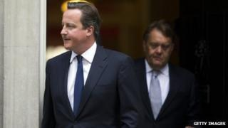 David Cameron leaves Downing Street after Syria discussions