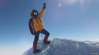 Bob Kerr on summit of Mount Vinson. Pic: Bob Kerr