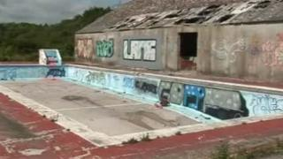 The Boys' Village swimming pool has become vandalised