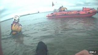 RNLI dog rescue