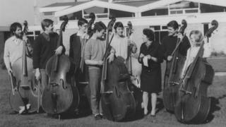 KVYO double bass section in April 1968