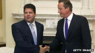 Fabian Picardo, left, with David Cameron