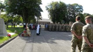 A memorial parade held at Catterick Garrison earlier