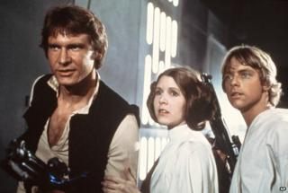 Harrison Ford, Carrie Fisher, Mark Hamill in Star Wars